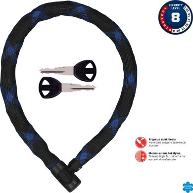 Abus Ivera Chain 7210 Zapięcie rowerowe łańcuch z zamkiem czarny z niebieskim