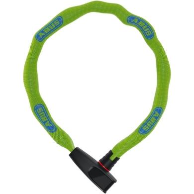 Abus Catena 6806 75cm Zapięcie do roweru łańcuch z zamkiem neon green