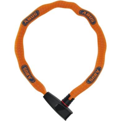 Abus Catena 6806 75cm Zapięcie do roweru łańcuch z zamkiem neon orange