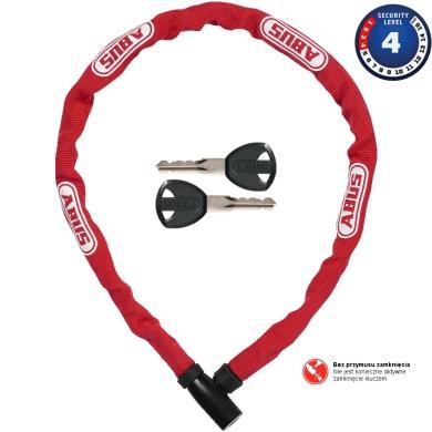 Abus Steel O Chain 4804K 75cm Zapięcie rowerowe łańcuch red