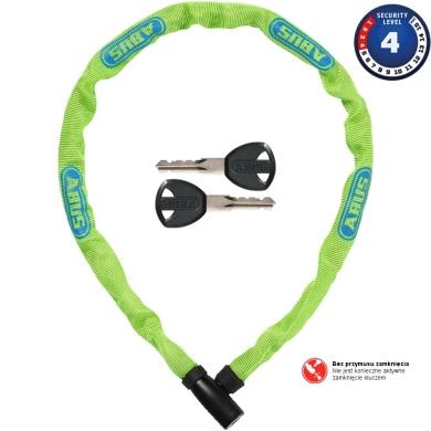 Abus Steel O Chain 4804K 75cm Zapięcie rowerowe łańcuch lime