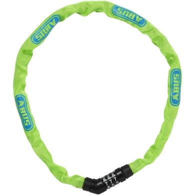 Abus Steel O Chain 4804C 75cm Zapięcie rowerowe łańcuch na szyfr lime