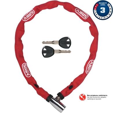 Abus 1500 Web 60cm Zapięcie do roweru łańcuch z zamkiem red