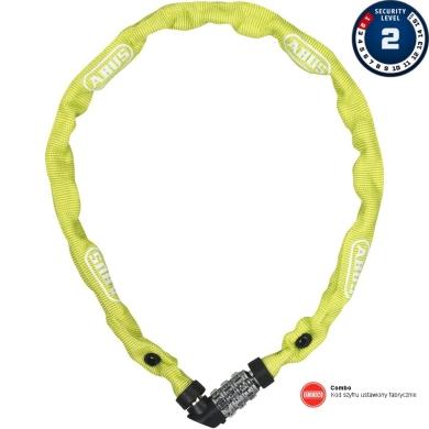 Abus 1200 Web 60cm Zapięcie do roweru łańcuch na szyfr lime