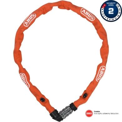 Abus 1200 Web 60cm Zapięcie rowerowe łańcuch na szyfr orange