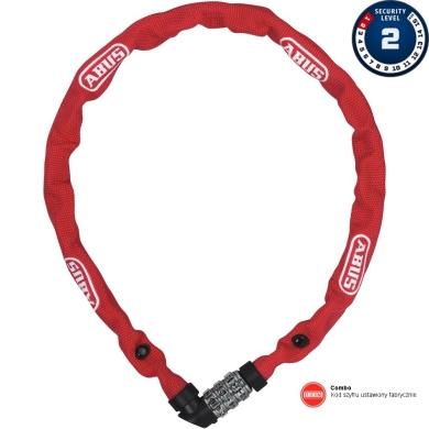 Abus 1200 Web 60cm Zapięcie do roweru łańcuch na szyfr red