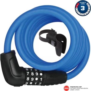 Abus Numero 5510 180cm Zapięcie rowerowe linka na szyfr blue + SCMU