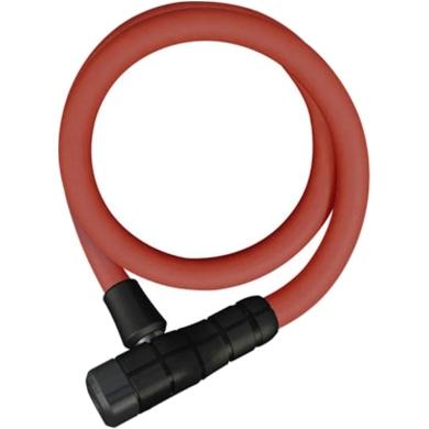 Abus Primo 5412 85cm Zapięcie rowerowe linka z zamkiem red