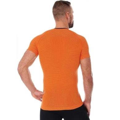 Brubeck 3D Run PRO Koszulka męska z krótkim rękawem pomarańczowa