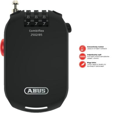 Abus Combiflex 85cm Linka stalowa zwijana na szyfr