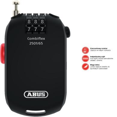 Abus Combiflex 65cm Linka stalowa zwijana na szyfr
