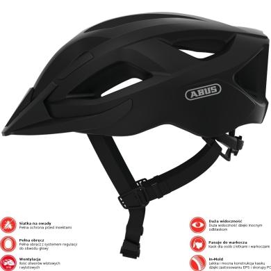 Abus Aduro 2.1 Kask rowerowy MTB velvet black