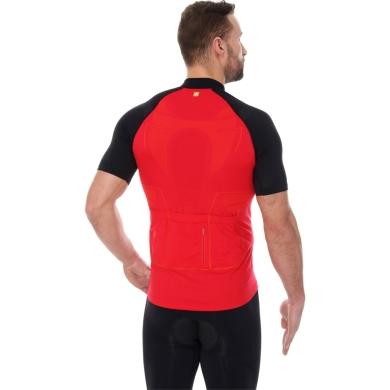 Brubeck Koszulka rowerowa z krótkim rękawem unisex czerwono czarna