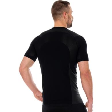Brubeck Dynamic Outdoor Koszulka męska krótki rękaw czarna