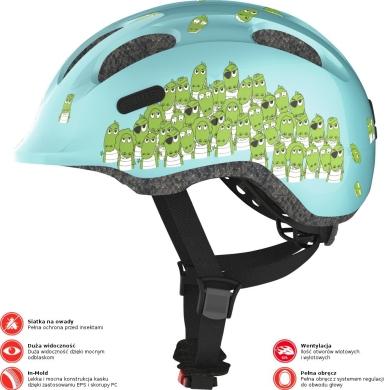 Abus Smiley 2.0 Kask rowerowy dziecięcy blue croco