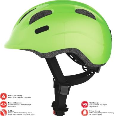 Abus Smiley 2.0 Kask rowerowy dziecięcy sparkling green
