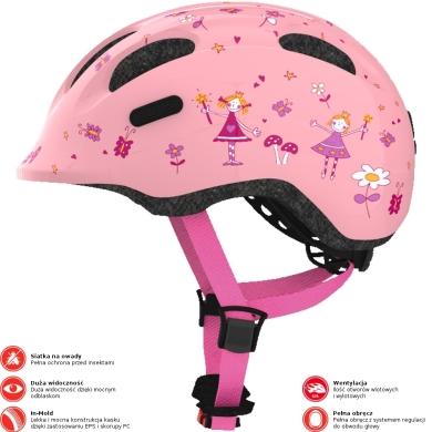 Abus Smiley 2.0 Kask rowerowy dziecięcy rose princess