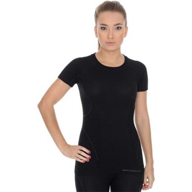 Brubeck Active Wool Komplet odzieży termoaktywnej damskiej koszulka + spodnie czarne