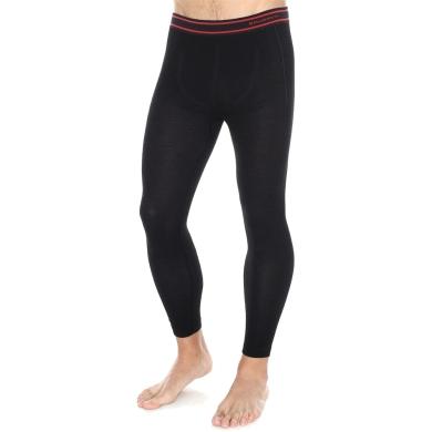 Brubeck Active Wool Komplet odzieży termoaktywnej męskiej koszulka + spodnie czarne