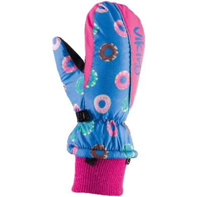 Viking Kids Digi Rękawice zimowe dziecięce różowe donuty