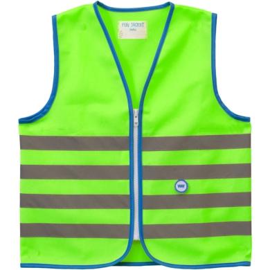 Wowow Fun Jacket Kamizelka odblaskowa dziecięca zielona