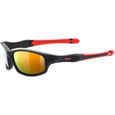 Uvex Sportstyle 507 Okulary przeciwsłoneczne dla dzieci black mat red mirror red