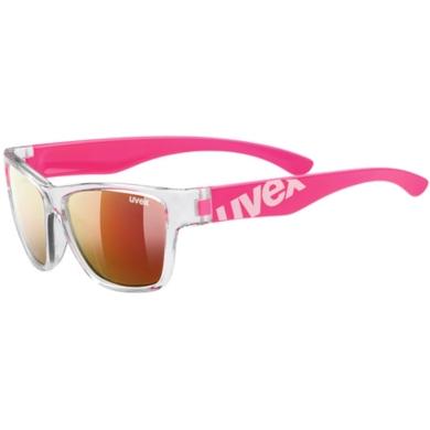 Uvex Sportstyle 508 Okulary przeciwsłoneczne dla dzieci clear pink mirror red