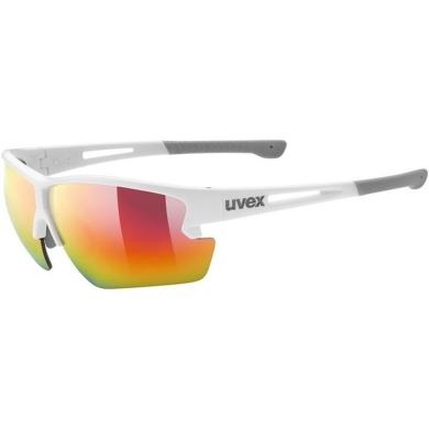 Uvex Sportstyle 812 Okulary sportowe white mat mirror red