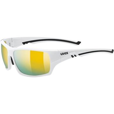 Uvex Sportstyle 222 Pola Okulary sportowe white polavision mirror yellow