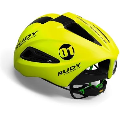 Rudy Project Boost 01 Kask z osłoną szosowy triathlon Yellow Fluo Black Matte