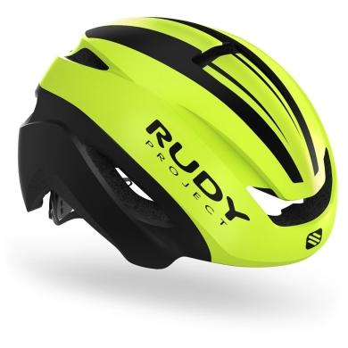 Rudy Project Volantis Kask Szosowy triathlon Yellow fluo black matte
