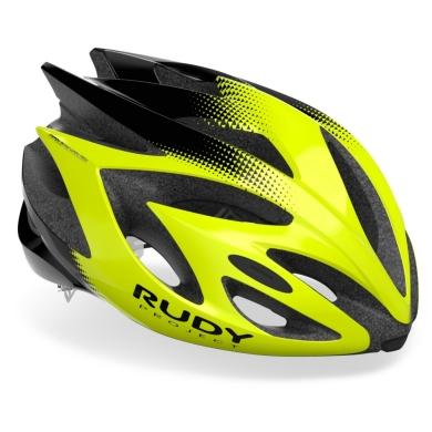 Rudy Project Rush Kask szosowy MTB yellow fluo black shiny