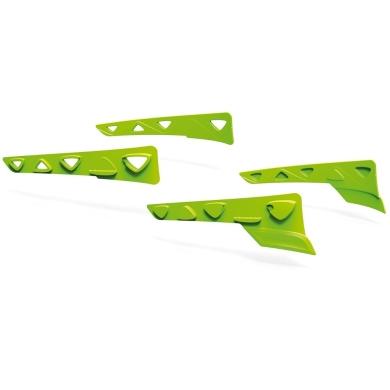 Rudy Project Peripheral Shields Set Zestaw gumowych wstawek bocznych lime