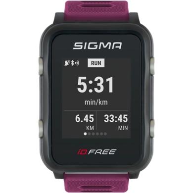 Sigma iD.Free.HR Zegarek z pulsometrem GPS fioletowy