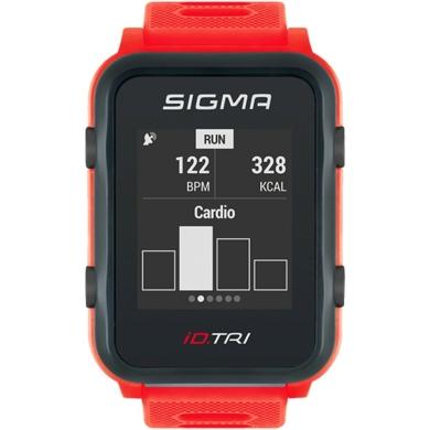 Sigma iD.Tri Zegarek do triathlonu z pulsometrem i GPS czerwony