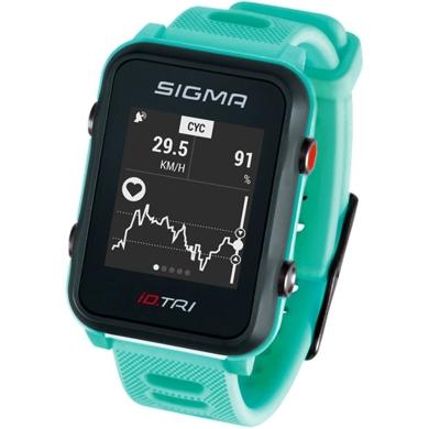 Sigma iD.Tri Set Zegarek do triathlonu z pulsometrem GPS kadencja neon miętowy