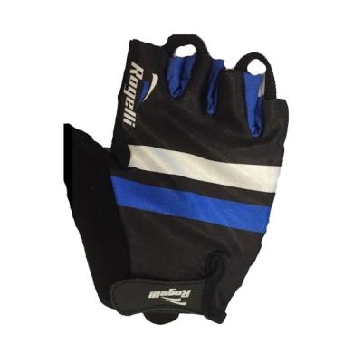 Rogelli Oli Rękawiczki rowerowe niebiesko czarne