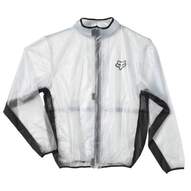 Fox Fluid Rain Kurtka przeciwdeszczowa transparentna czarna