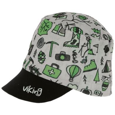 Czapka Viking Moko Junior szaro-zielona