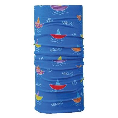 Viking UV Kids 4589 Komin dziecięcy niebieski w statki