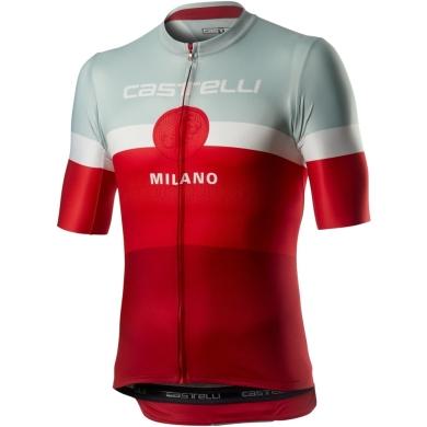 Castelli Milano Koszulka rowerowa biało czerwona