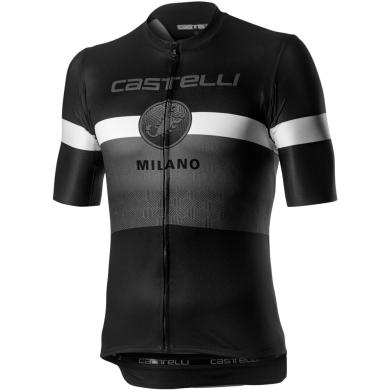Castelli Milano Koszulka rowerowa szaro biało czarna