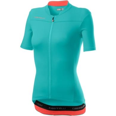 Castelli Anima 3 Koszulka rowerowa damska light torquoise brilliant pink