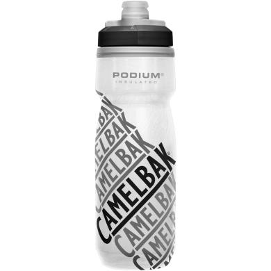 Camelbak Podium Chill Bidon rowerowy z izolacją 620ml biały z napisami