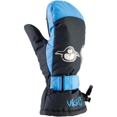 Viking Kids Pingvi Rękawice narciarskie dziecięce niebieskie