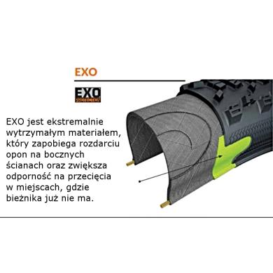 Maxxis Minion DHF 27,5x2,50WT 60tpi EXO Opona zwijana bezdętkowa TR dual MTB