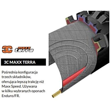 Maxxis Minion DHF 27,5x2,50WT 120tpi EXO 3CMT Opona zwijana bezdętkowa TR MTB