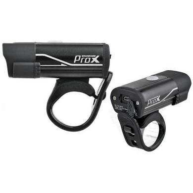 ProX Hydra Lampka rowerowa przednia CREE 400 Lm aku USB