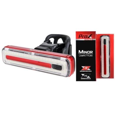 ProX Minor Lampka rowerowa tylna COB LED 60 Lm aku USB