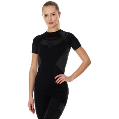 Brubeck Dry Koszulka termoaktywna z krótkim rękawem damska czarna